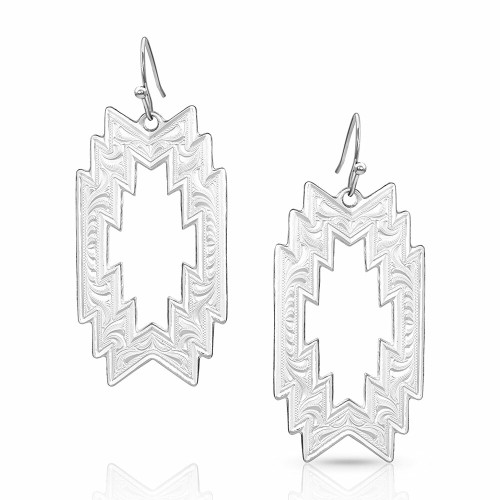 Thunderstorm Geometric Earrings By Montana Silversmiths ER4700