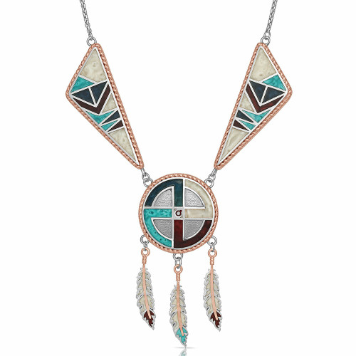 Legends Dream Dreamcatcher Necklace by Montana Silversmiths NC4821