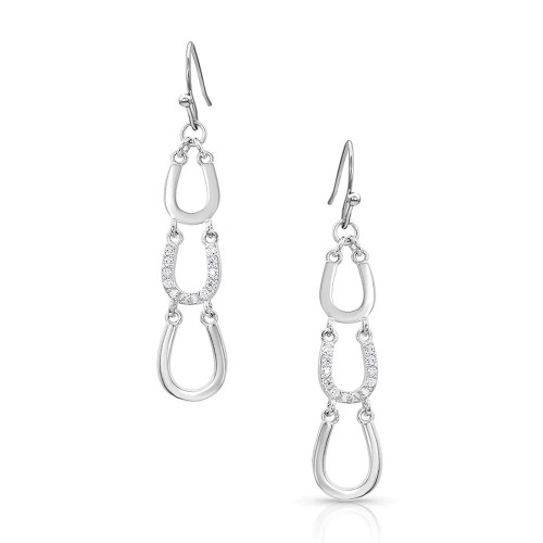 One Step Closer Horseshoe Earrings By Montana Silversmiths ER4304