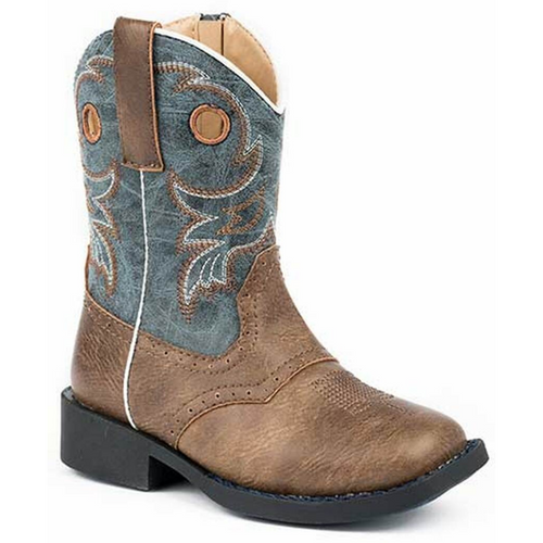 Daniel Brown and Blue Toddler's Cowboy Boot 09-017-1224-2201 BR