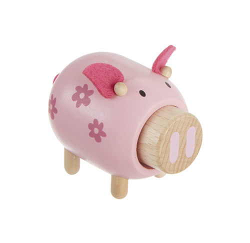 Wooden Pig Farm Toy with Sound by Ganz BG-4295P