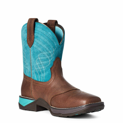 Women's Anthem Brown/Turquoise Shortie Boot By Ariat 10035776