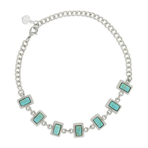 Starlight Turquoise Choker Attitude Necklace By Montana Silversmiths ANC4861