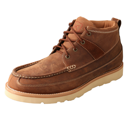 "Twisted X 4"" Work Wedge Sole Boot - Oiled Saddle MCAS001"