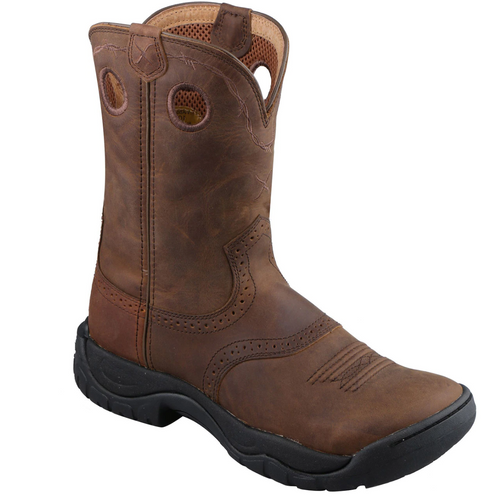 """Twisted X 9"""" All Around Work Boot - Distressed Saddle & Distressed  