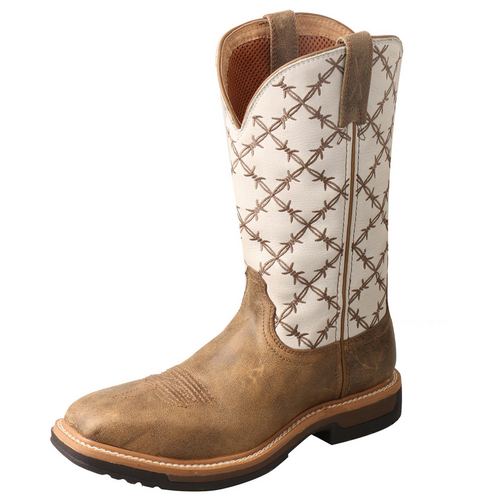 "Twisted X 11"" Western Work Boot - Bomber & White 
