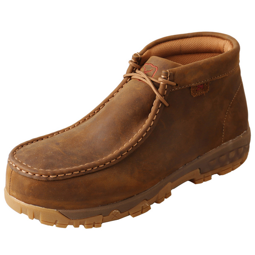 Twisted X Work Chukka Driving Moc - Distressed Saddle | WXCC001