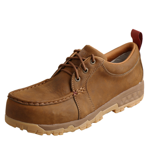 Twisted X Work Boat Shoe Driving Moc - Distressed Saddle | WXCC002