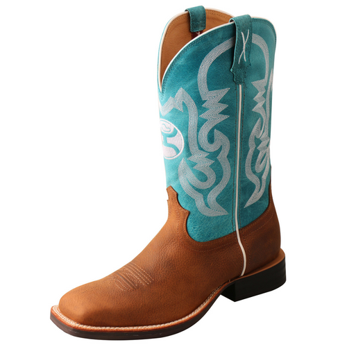 """Twisted X Men's 12"""" Hooey Boot - Gingerbread & Turquoise   MHY0032"""