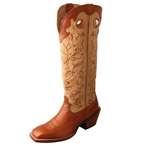 "Twisted X Women's 16"" Buckaroo - Saddle & Hazel 