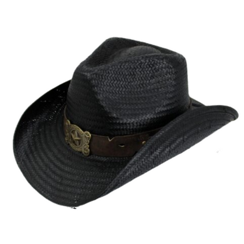 Hunter Straw Cowboy Hat by Peter Grimm PGD9827-BLK-O