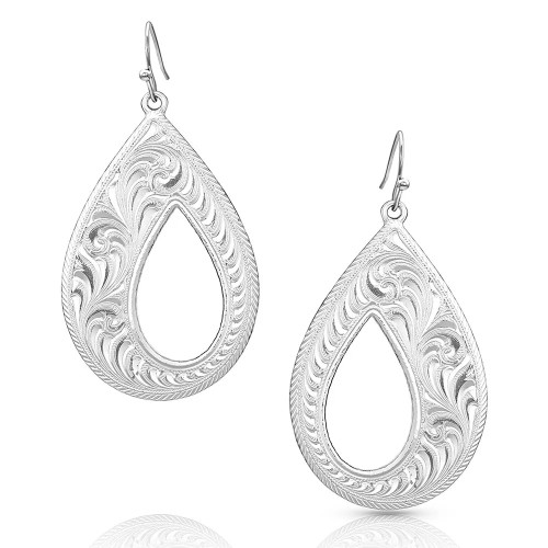 Women's Unforgettable Teardrop Earrings By Montana Silversmiths ER4698