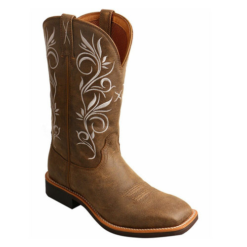 Women's Top Hand Western Square Boot By Twisted X WTH0012