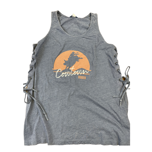 2021 Cowtown Rodeo Side Lace Up Tank W19466 Graphite