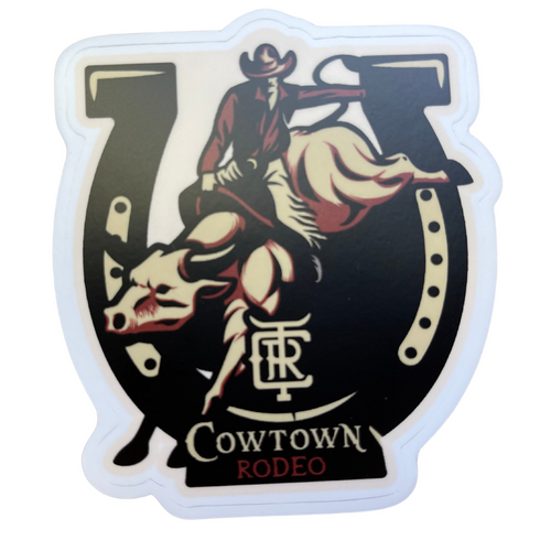2021 Collectable Cowtown Rodeo Bullrider & Horseshoe Sticker