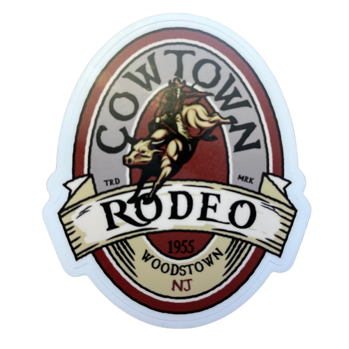 2021 Collectable Cowtown Rodeo Vintage Oval Bullrider Sticker