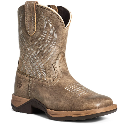 Youth C Anthem Brown Wide Square Bomber Boot By Ariat 10035858