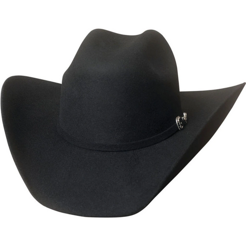 Big Boss 8X Beaver Fur Blend Felt Black Cowboy Hat by Montecarlo Hats 0745BL