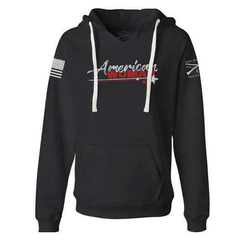 American Woman 2.0 Black Hoodie Sweatshirt by Grunt Style GS3665