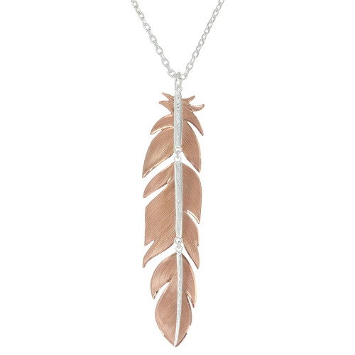 Mystery Feather Necklace by Montana Silversmiths NC1948RGD