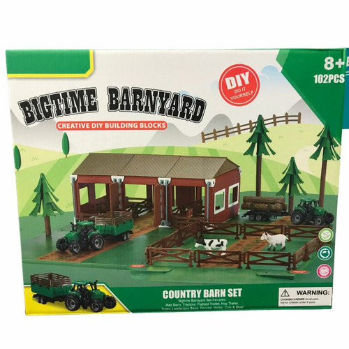 Bigtime Barnyard Country Barn Building Blocks Set by M&F 5100014