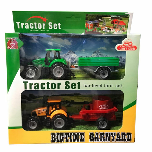 Bigtime Barnyard Tractor Set & Trailer by M&F 5100011