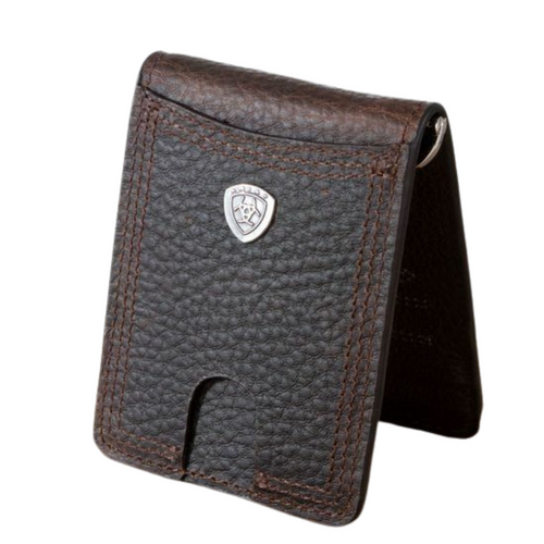 Ariat BiFold Brown Rowdy Money Clip A35470282