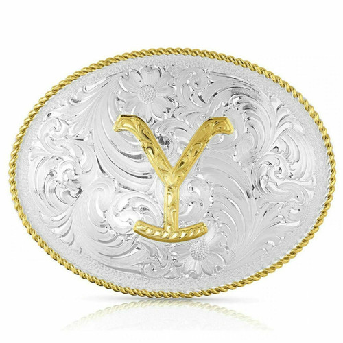 The Yellowstone Dutton Ranch Belt Buckle by Montana Silversmiths