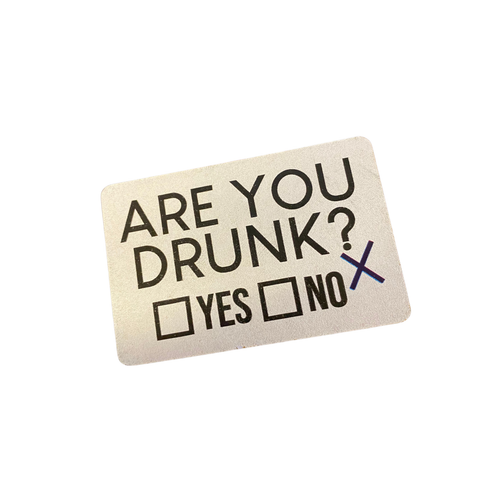 """Are You Drunk? Yes or No"" Magnet 79191-8"