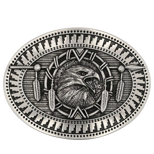 Eagle Spirit Attitude Belt Buckle By Montana Silversmith A860