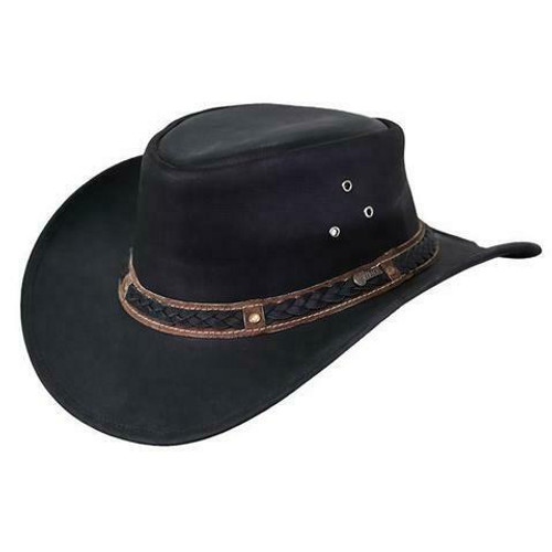 Wagga Wagga Leather Aussie Hat by Outback Trading Company 1367