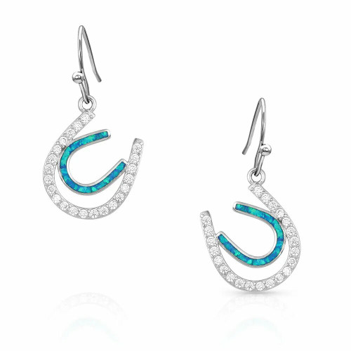 Tipping Luck Sparkly Horseshoe Earrings By Montana Silversmiths ER4921