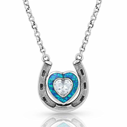 The Love Inside Luck Horseshoe Necklace NC4923
