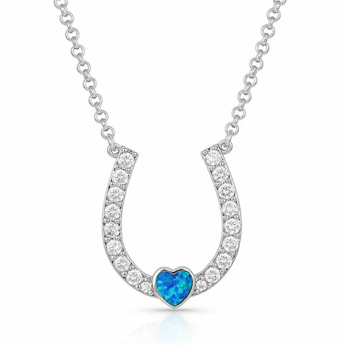 Lucky in Love Heart & Horseshoe Necklace NC4922