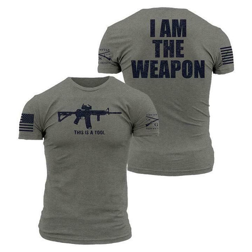 I Am The Weapon Grey T-Shirt By Grunt Style GS1861