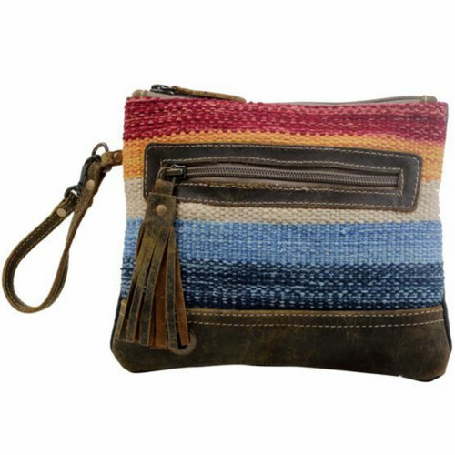 Tapestry Fresh Look Multicolored Pouch S-3079 by Myra Bags
