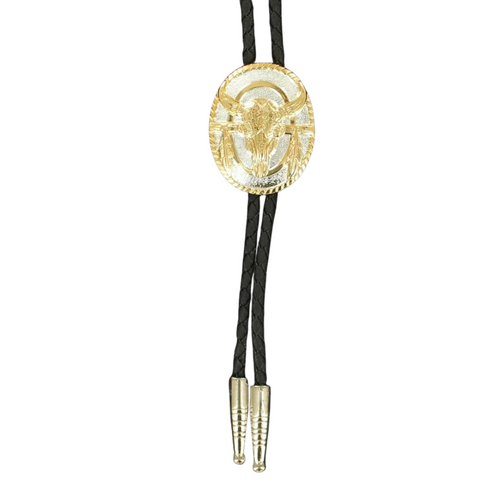 Skull and Feather Bolo Tie by M&F Western 22274