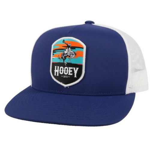 Hooey Cheyenne Navy/White Multi Color Patch Baseball Cap 2144T-NVWH