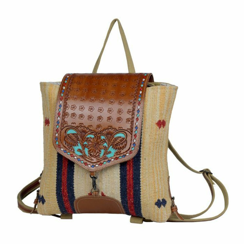 Lucent Backpack Hand-tooled by Myra Bags S-3392