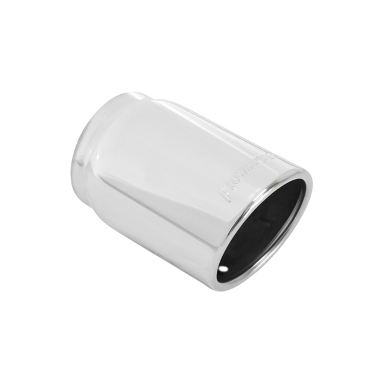 Flowmaster  Exhaust Tip Polished Stainless Steel Rolled Edge Angle Cut