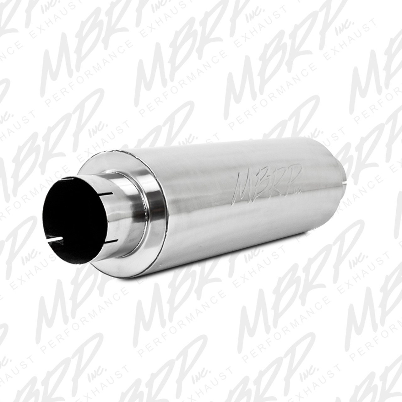 """MBRP Universal Quiet Tone Muffler, 5"""" In/Out, 8"""" Dia. Body, 31"""" Overall, T409"""