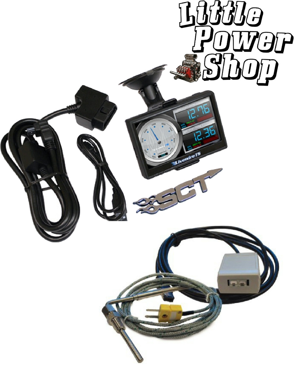 03-07 Ford 6.0 Powerstroke SCT Livewire Programmer and Pyrometer Kit