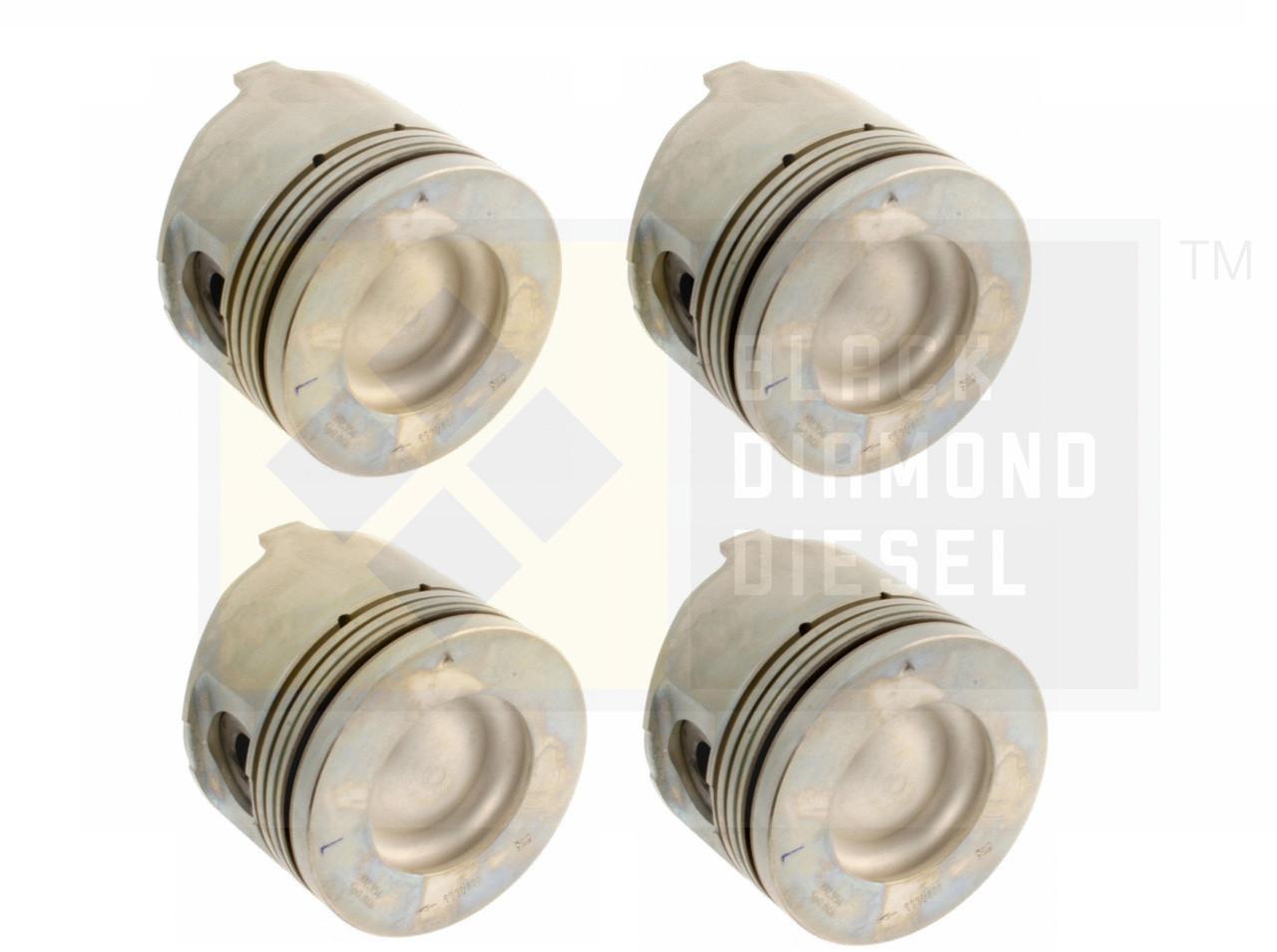 Black Diamond 07.5-10 Duramax 6.6 LMM .020 Oversize Left Side Pistons (4)