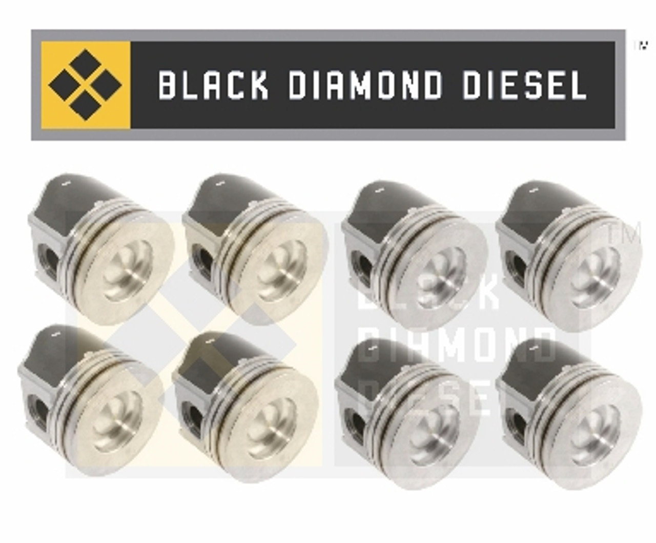 Black Diamond 6.4 Powerstroke Set of Replacement Pistons with Rings