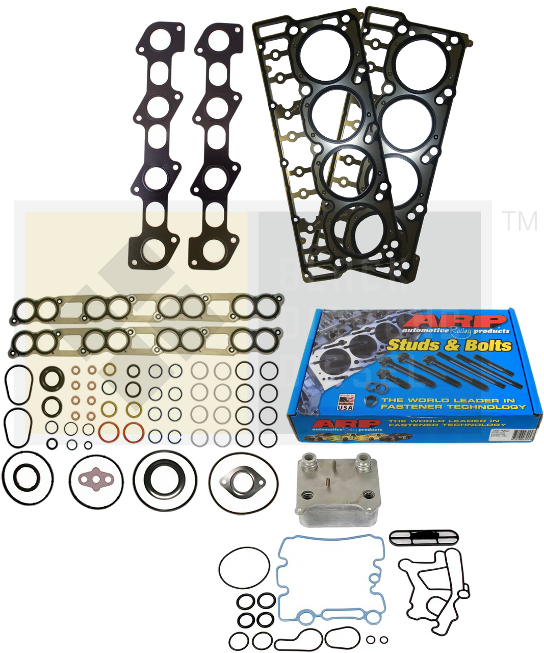 03-07 Ford 6 0 Powerstroke Platinum Head Gasket Replacement Kit (add  options)