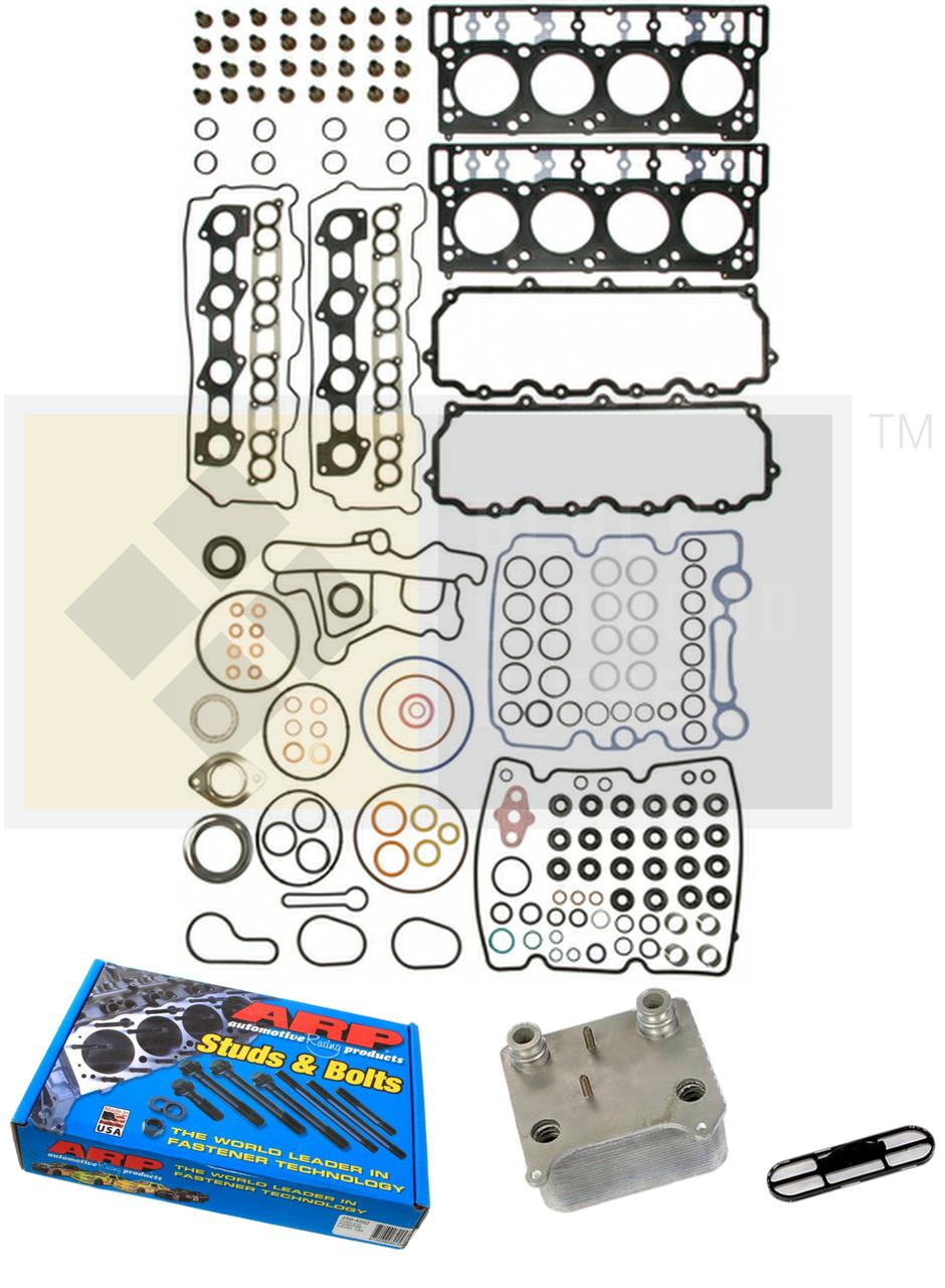 Ford 6.0 EGR Delete Kit Oil Cooler Intake Cylinder Head Gasket 18mm Dowel