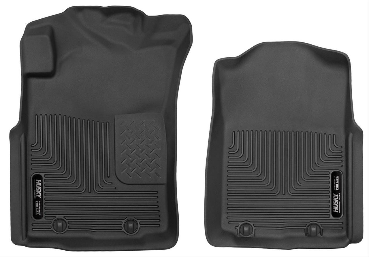 05-11 TACOMA CREW/EXT/STD CAB FRONT FLOOR LINERS X-ACT CONTOUR SERIES BLACK