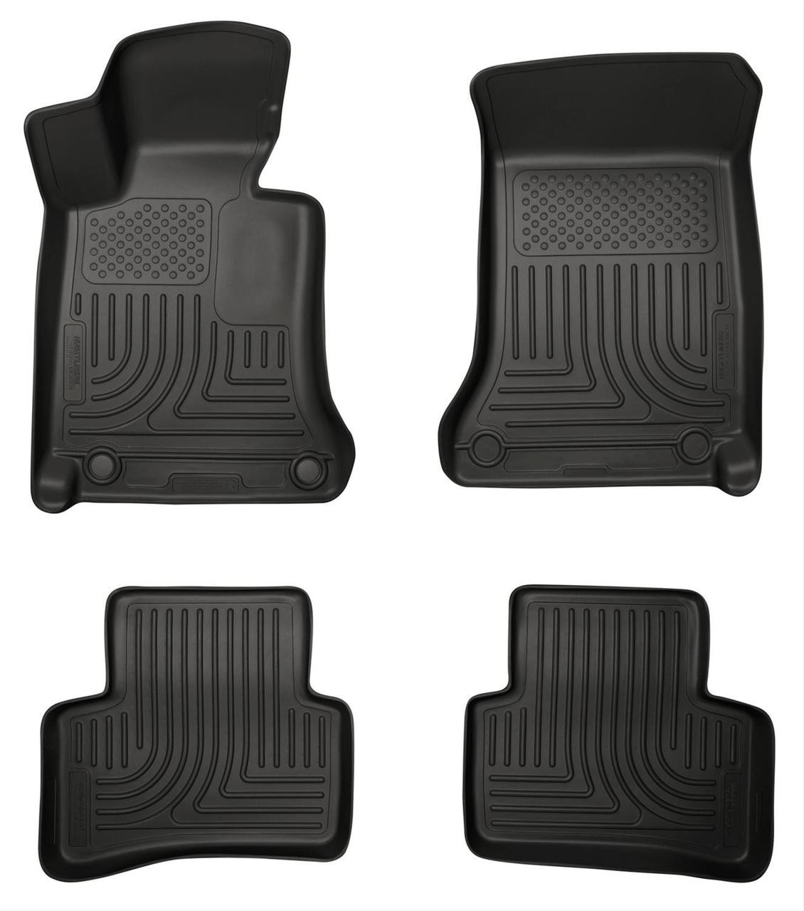 08-13 MERCEDES C-CLASS FRONT & 2ND SEAT WEATHERBEATER FLOOR LINERS BLACK
