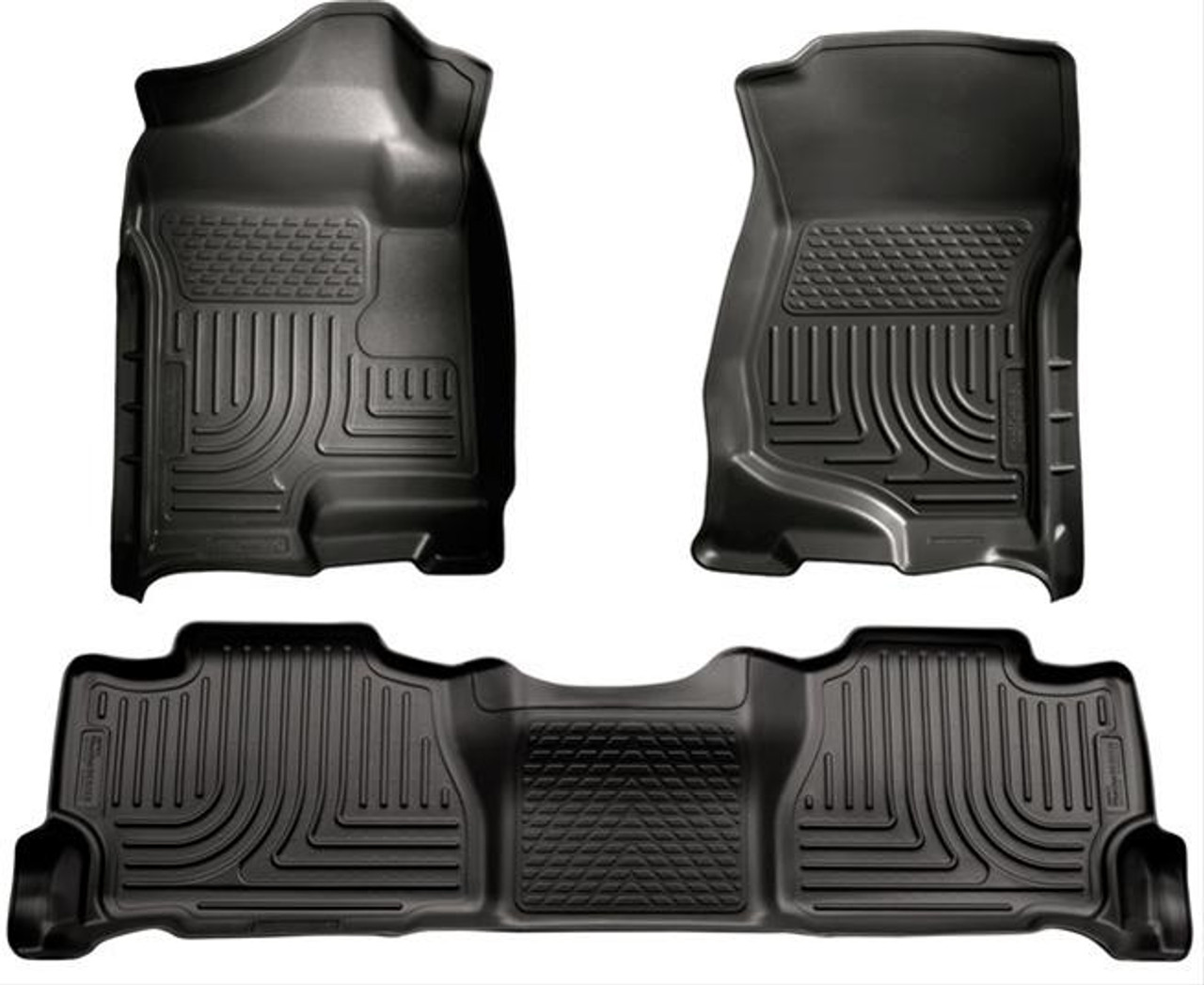 07-14 ESCALADE ESV/SUBURBAN/YUKON XL/AVALANCHE(NOT HYBRID) FRONT & 2ND SEAT FLOOR LINER BLACK