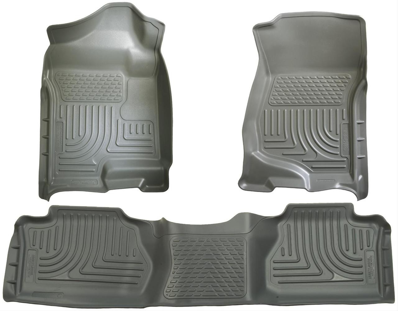 07-13 SILVERADO/SIERRA 1500/07-14 2500/3500 EXT(NOT W/MANUAL SHIFTER)FRONT & 2ND SEAT FLR LINERS GRE